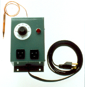 Pro-Grow Heavy Duty GC-2 Control Thermostat has 2 grounding receptacles for 2 heavy duty propagating mats, 2 cables, or other devices. Other models also available at durablegrowingequipment.com or toll free call 1-855-893-9160. Manufactured in USA.